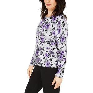 NWT Karen Scott Plus Size Floral Cardigan